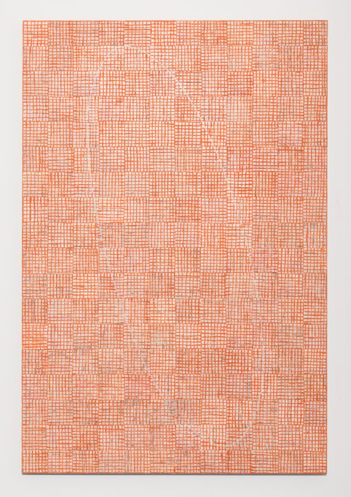 McArthur Binion, Seasons: VII, 2016, oil paint stick and paper on board, 72 x 48 x 2 inches (courtesy of Kavi Gupta Gallery)