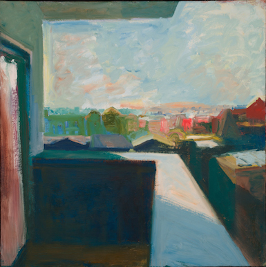 Elmer Bischoff, Cityscape, 1965 (Yale University Art Gallery, Solomon Byron Smit