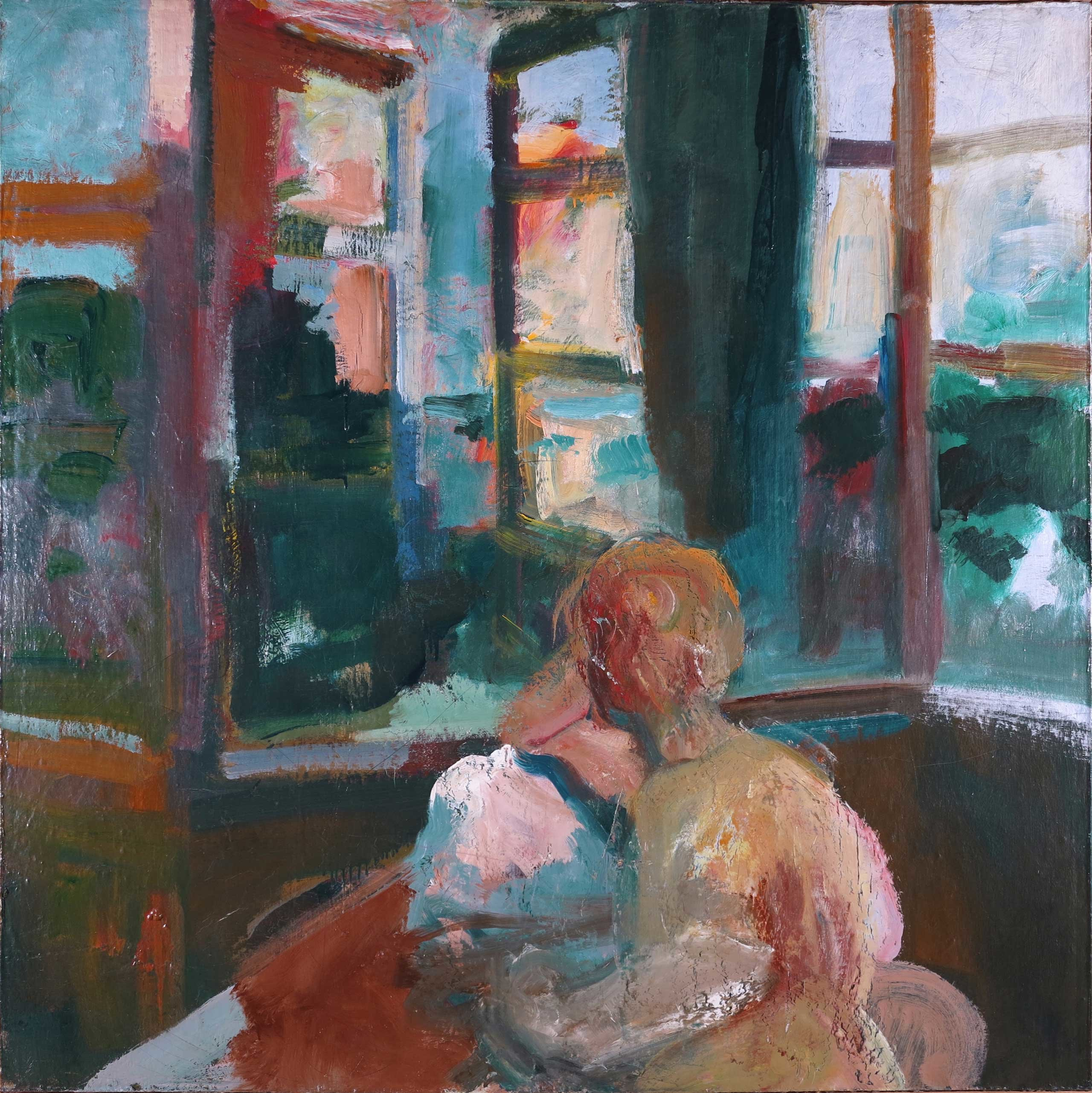 Elmer Bischoff, Woman Reading Near Window, 1959, oil on canvas, 57 x 57 inches (