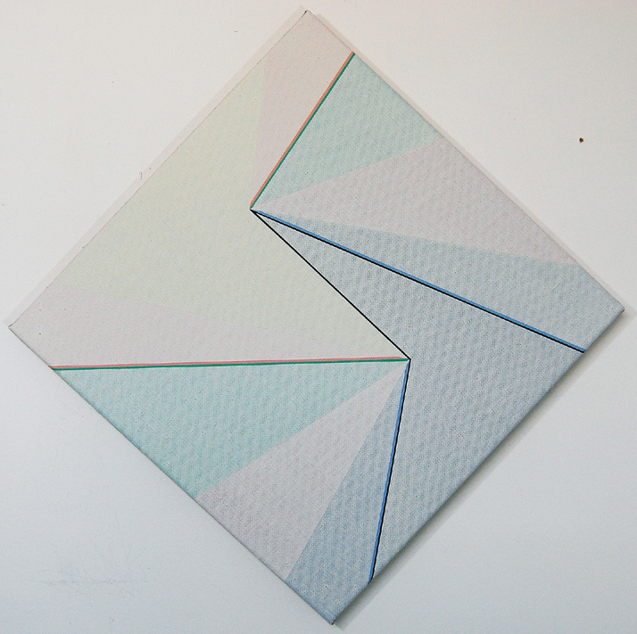 Katrina Blannin, Diamond Light 50 (tonal Rotation with Pink/Green: Blue/Black De