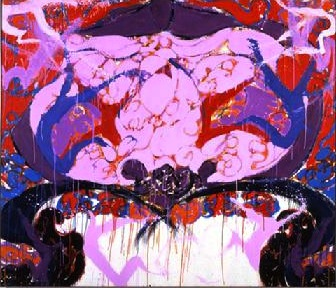 Norman Bluhm, Byzantine Angel, 1989, oil on canvas, 72 by 84 inches (courtesy No
