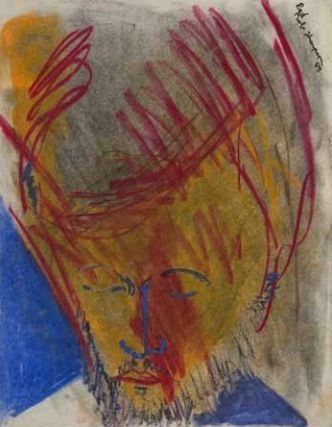 Bob Thompson, Red, 1958, pastel on paper 13 x 10 inches (courtesy Steven Harvey