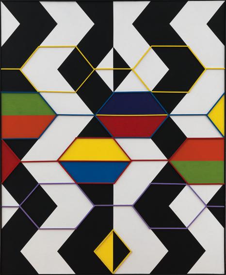 Regina Bogat, Helen of Troy, 1966 (August), acrylic, wood on canvas 66 x 55 inch