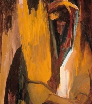 David Bomberg, Hear O'Israel, 1955, oil on wood, 35 1/2 x 27 1/2 inches (The Jew