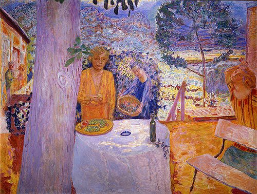 Pierre Bonnard, The Terrace at Vernonnet, 1920-39, oil on canvas, 58 1/4 x 76 3/