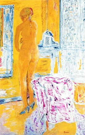 Pierre Bonnard, Large Yellow Nude, 1931, oil on canvas, 170 x 107.3 cm (Private