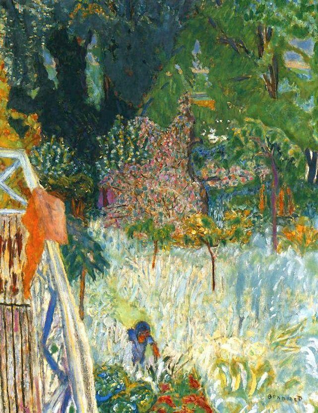 Pierre Bonnard, Balcony in Vernonnet, 1920