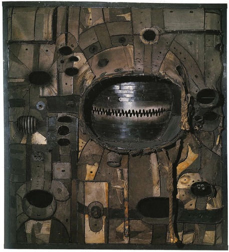 Lee Bontecou, Untitled, 1961, Welded steel, canvas, wire, and rope, 72 5/8 × 66