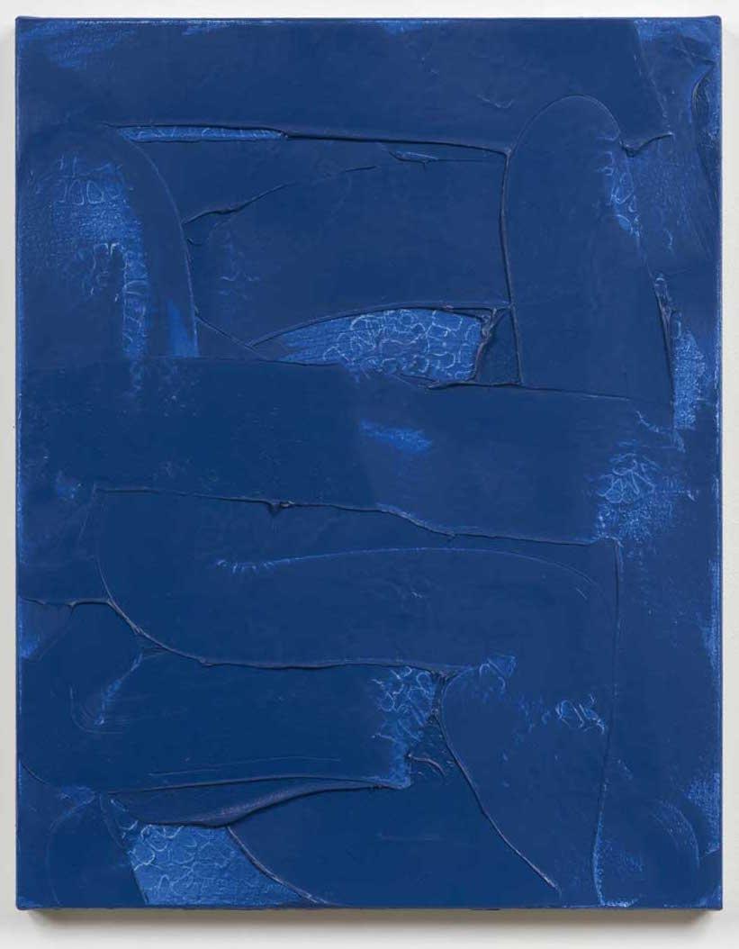 Robert Bordo, Denim #1, 1996, oil on canvas, 29 × 24 inches (courtesy of Bortola