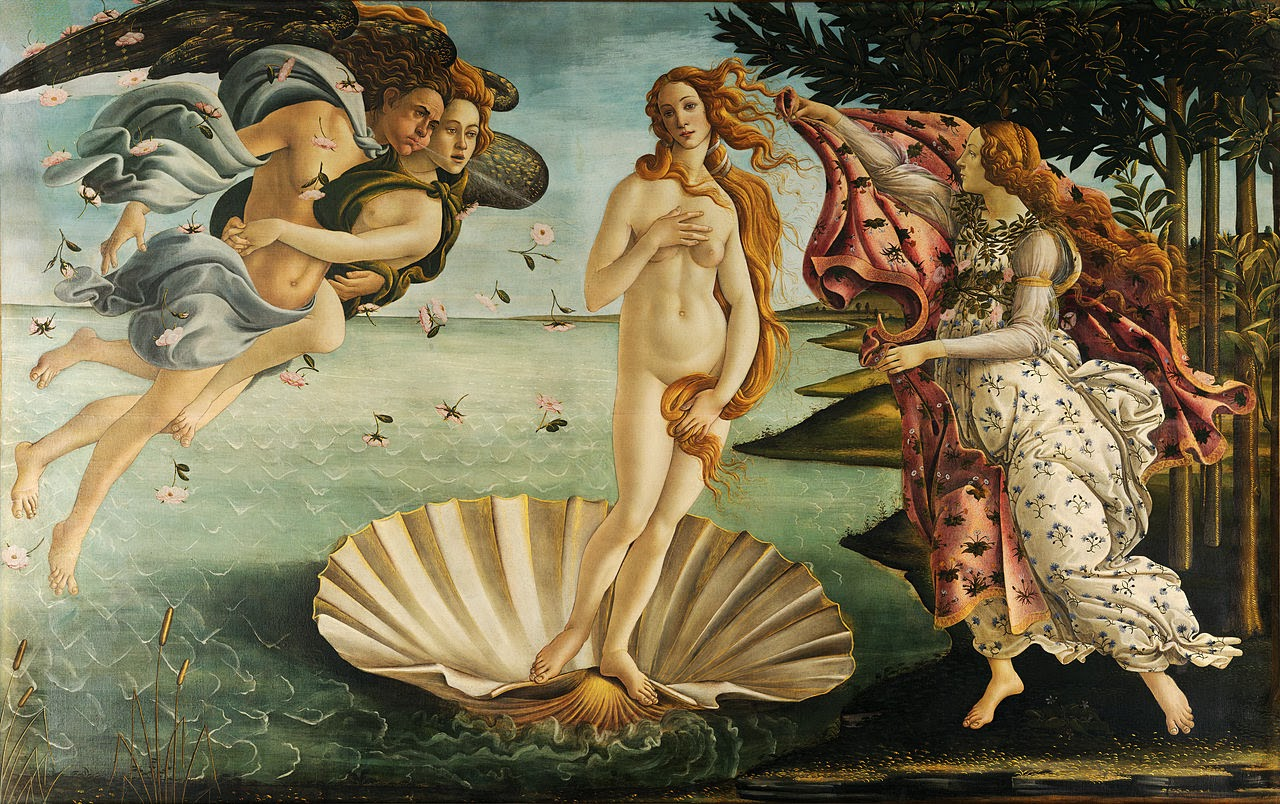Sandro Botticelli, Birth of Venus, c. 1486, tempera on canvas (Uffizi, Florence)