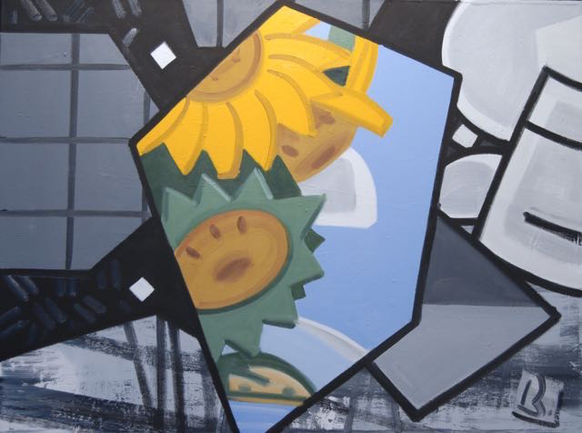Gregory Botts, the C before the chorus..., 1995, oil on canvas, 36 x 48 inches (