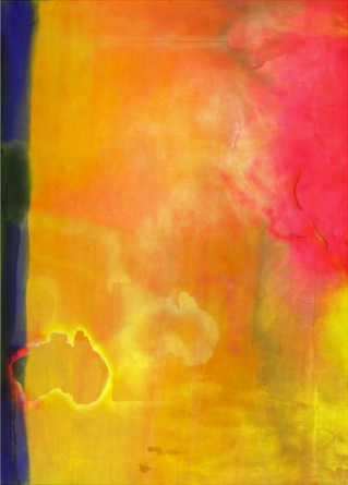 Frank Bowling, Travelling with Robert Hughes, 1969-1970, acrylic on canvas, 282