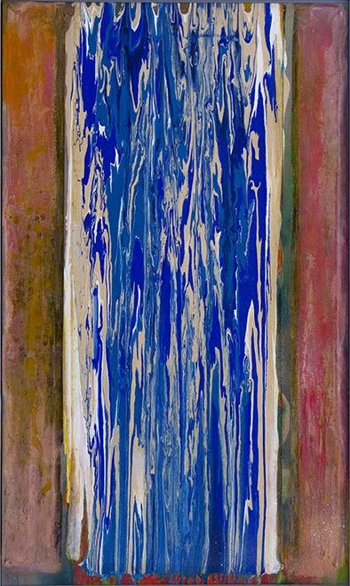 Frank Bowling, Bessboro Knights, 1976, acrylic on canvas