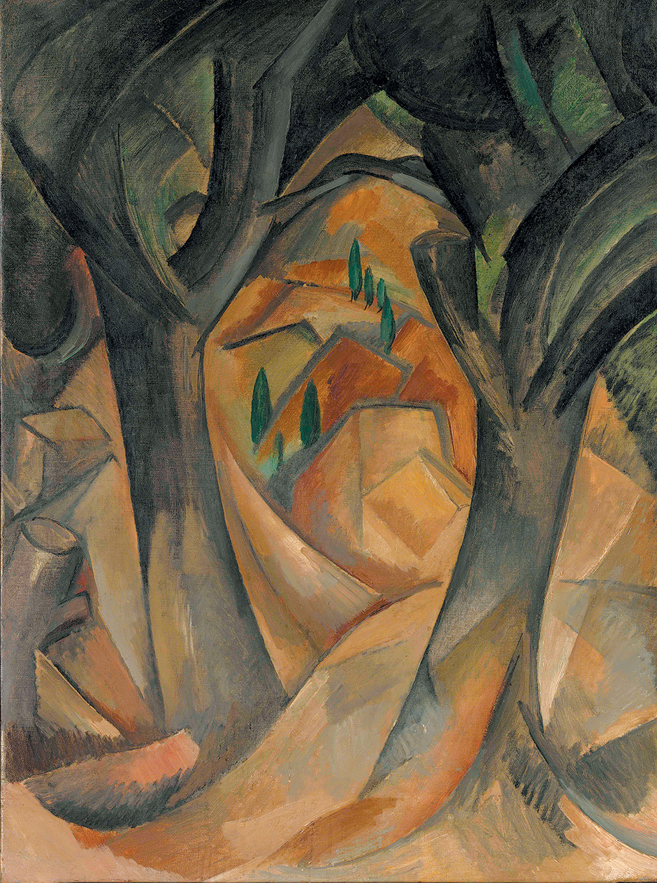 Georges Braque, Trees at L'Estaque, summer 1908 (Promised Gift from the Leonard