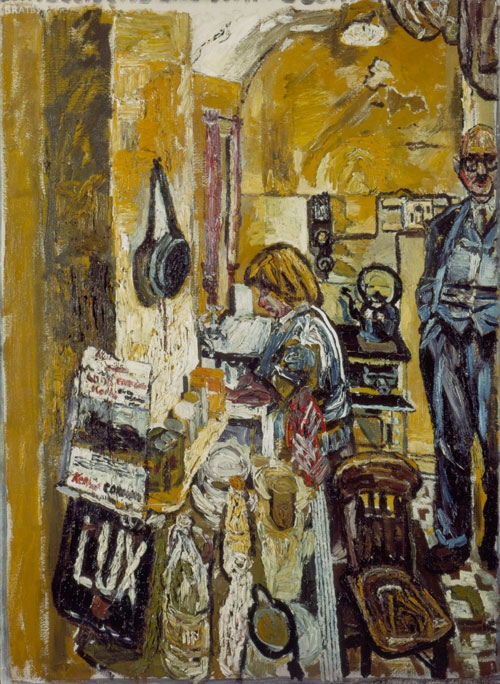 John Bratby, Kitchen Interior, 1955-6 (Copyright the estate of John Bratby/Bridg