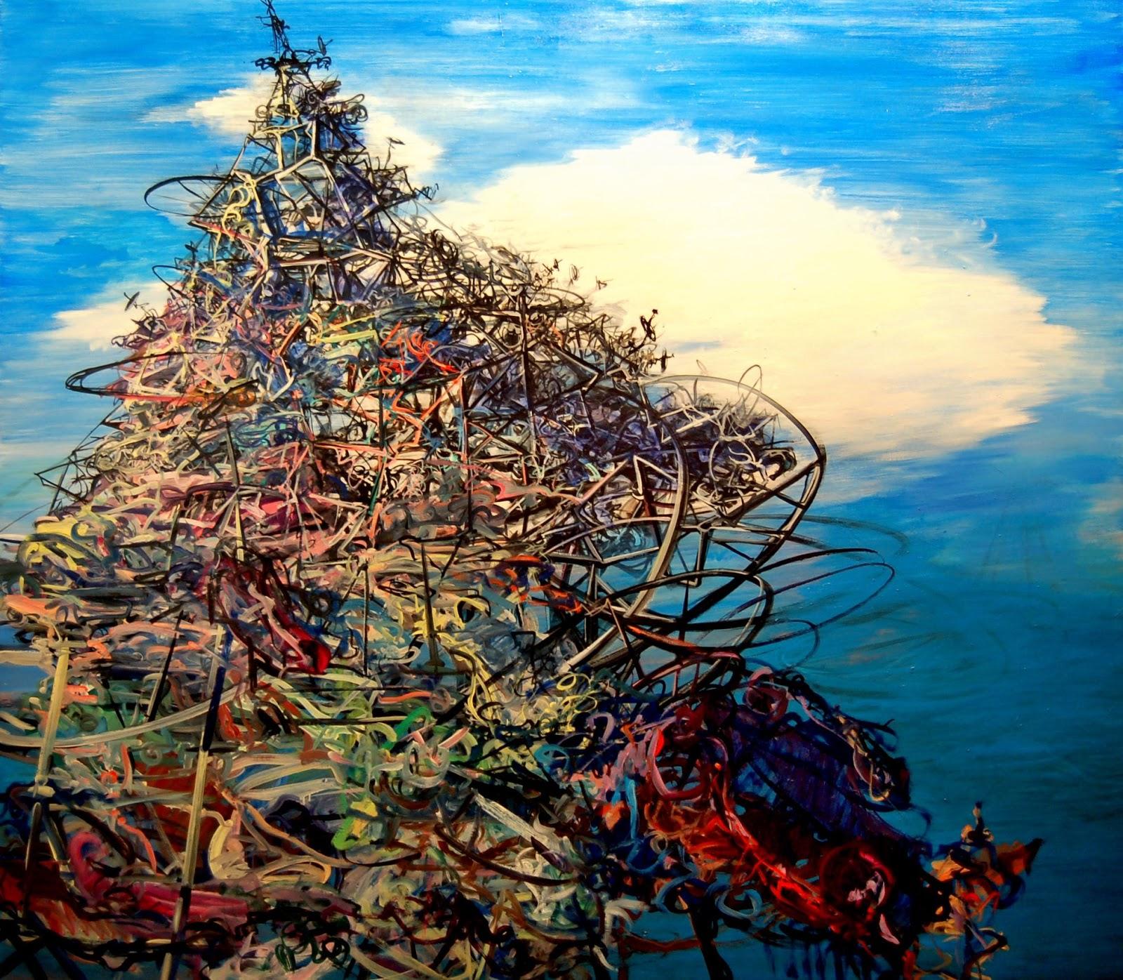 Deborah Brown, Slag, 2013, oil on canvas, 70 x 80 inches (courtesy of the artist