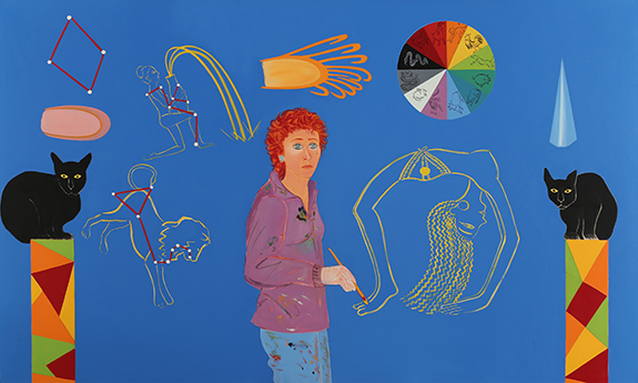 Joan Brown, Year of the Tiger, 1983, oil, enamel on canvas, 72 x 120 inches (cou
