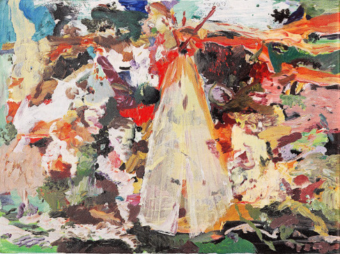 Painting by Cecily Brown (courtesy of Maccarone Gallery)