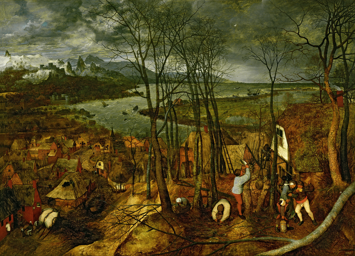 Pieter Bruegel, The Gloomy Day, 1559, oil on wood, 46.5 x 64 inches (Kunsthistor