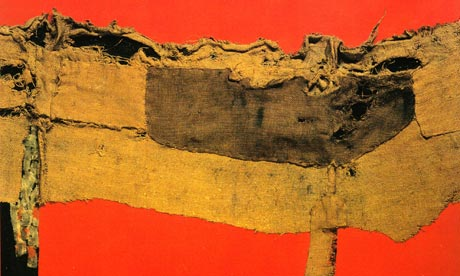 Alberto Burri, Sacking and Red, 1954, Photograph: Tate, London © Fondazione Pala