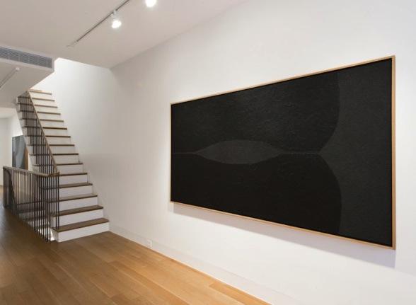 Installation view: Alberto Burri, Nero Cellotex, 1986-1987, acrylic and vinavil