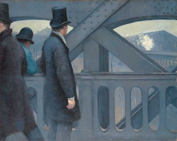 Gustave Caillebotte, On the Pont de l'Europe, 1876–77, oil on canvas, 41 5/8 x 5