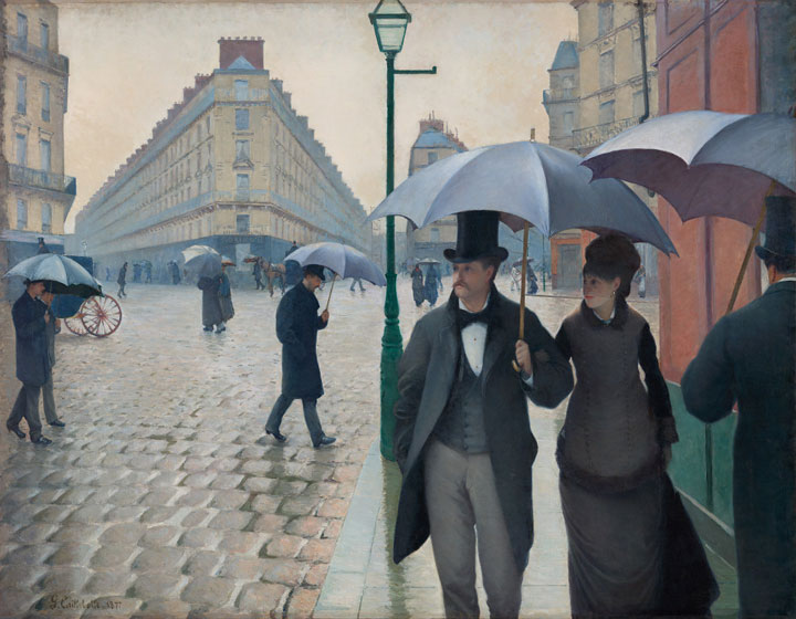 Gustave Caillebotte, Paris Street, Rainy Day, 1877, oil on canvas (The Art Insti