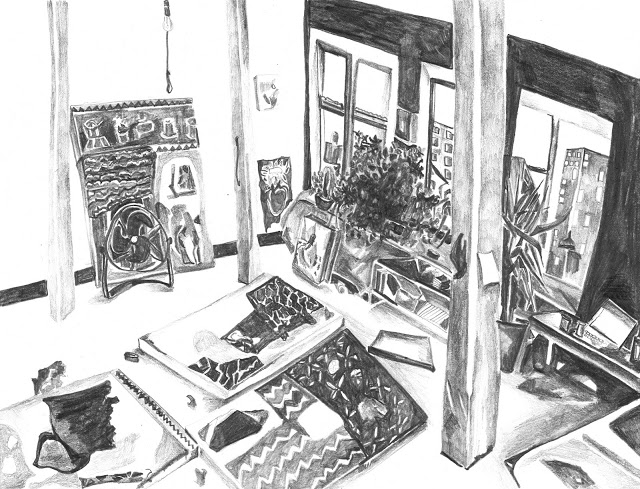 Maria Calandra, Luloff's Studio, 2013 (courtesy of the artist)
