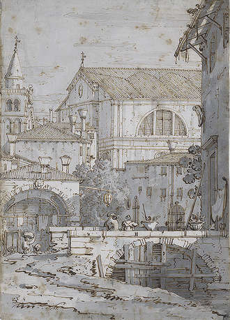 Canaletto, Architectural Capriccio (The Morgan Library)