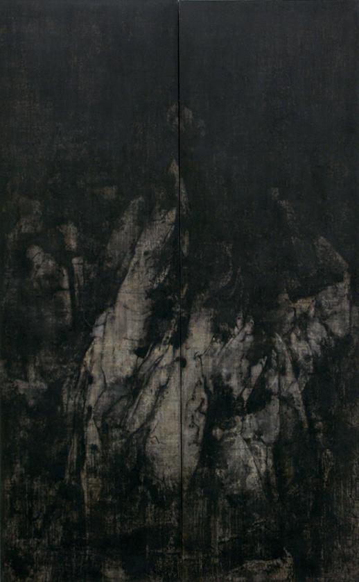 Cao Jigang, Silence and Meditation, 2011, Tempera on canvas (photo: Cao Jigang)
