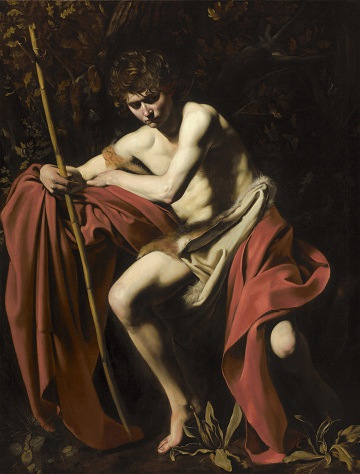 Michelangelo Merisi da Caravaggio, Saint John the Baptist in the Wilderness, 160