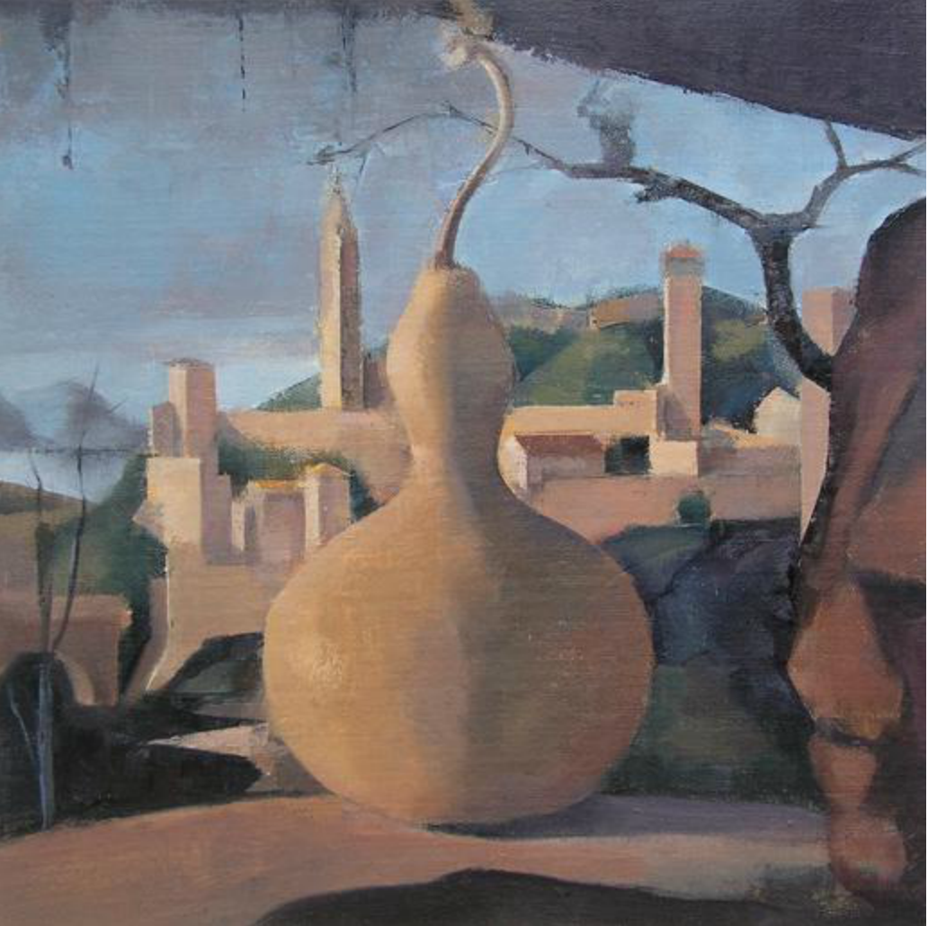 Linda Carey, Gourd in Grotto, 2015, oil on linen on panel (courtesy of the artis