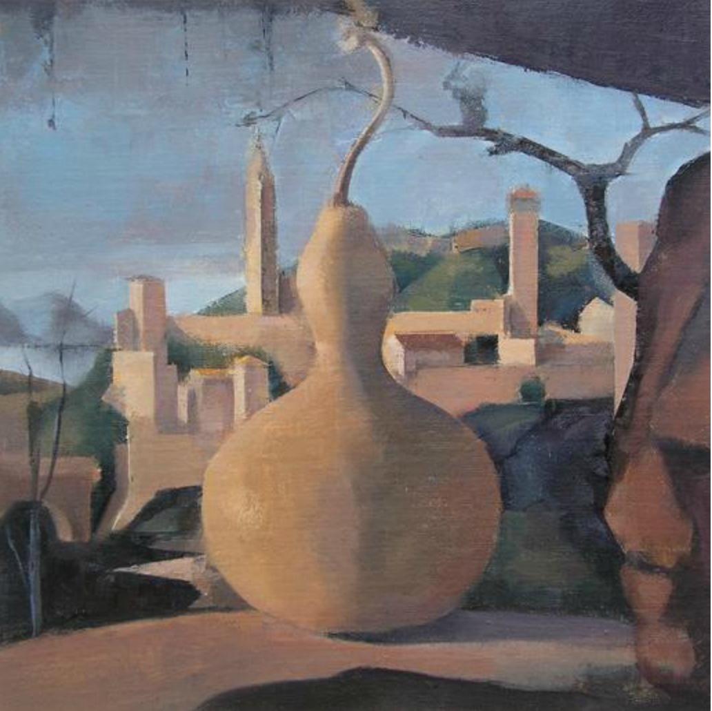 Linda Carey, Gourd in Grotto, 2015, oil on linen on panel (courtesy of the artis