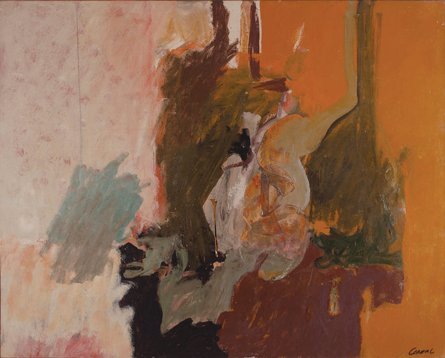 Nicolas Carone, Ear of Earth, c. 1960, oil on canvas, 48 x 60 inches (© Estate o