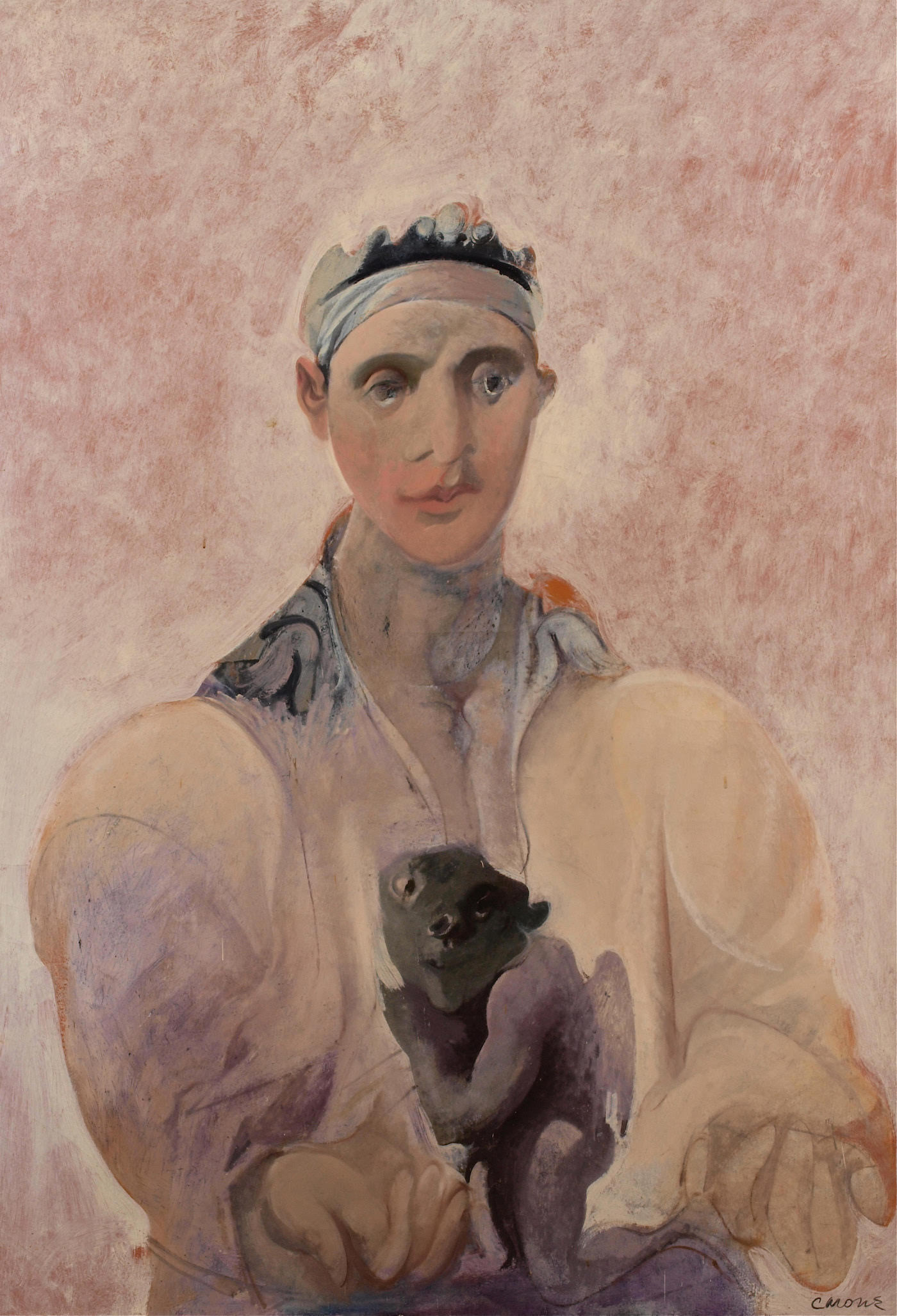 Nicolas Carone, The Prince, 1970, oil on linen, 71 1/2 x 50 inches (courtesy of Loretta Howard Gallery and the Estate of Nicolas Carone)
