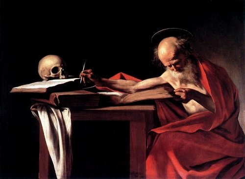 Caravaggio, St. Jerome Writing, c.1606, 44 × 62 inches (Galleria Borghese)