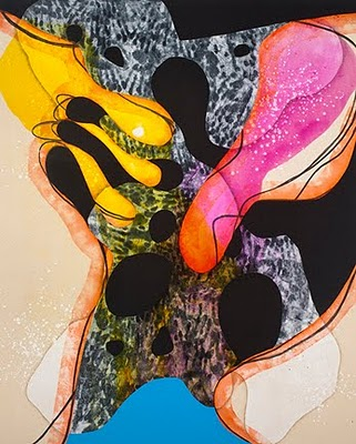 Carrie Moyer, The Tiger's Wife, 2011, Acrylic on canvas, 60x48 inches (courtesy