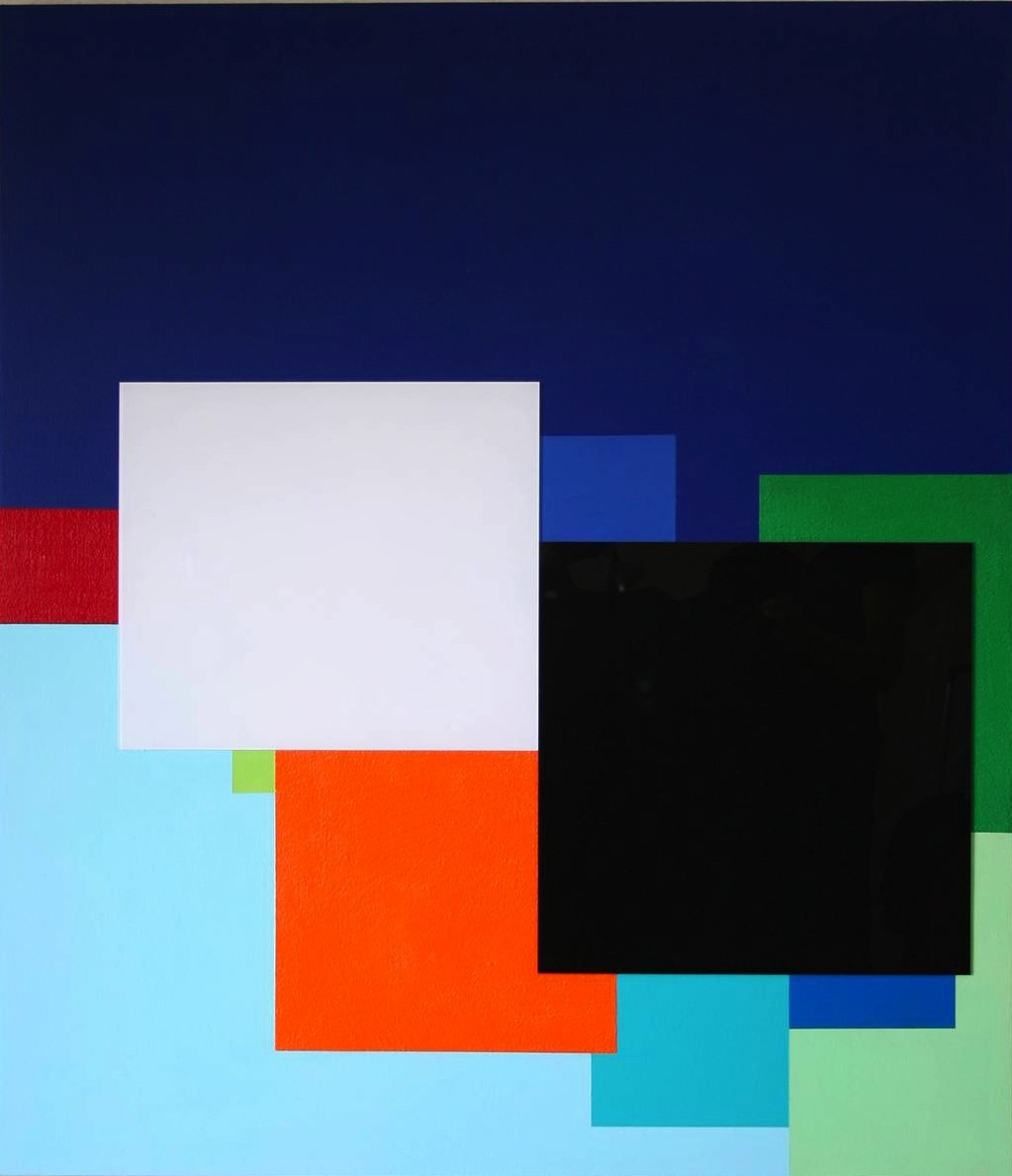 Marco Casentini, Inside the Blue, Acrylic/Perspex on canvas 44 x 38 inches, 2011