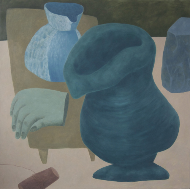 Ginny Casey, Droopy Vase, oil on canvas, 55 x 55 inches, 2015 (courtesy of the artist)