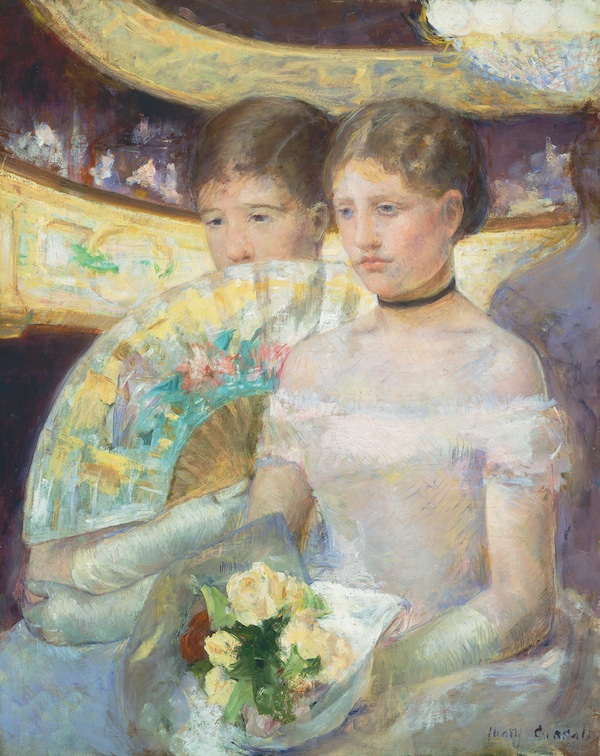 Mary Cassatt, The Loge, ca. 1878-80, oil on canvas (National Gallery of Art, Was