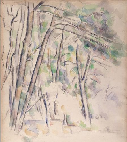 Paul Cézanne, Cistern in the Park of Château Noir, 1895 (courtesy of the Ashmole