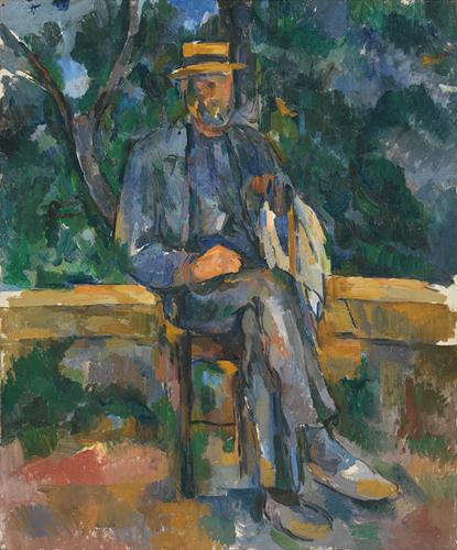 Paul Cézanne, Portrait of a Peasant, 1905-06, oil on linen, 65 x 55 cm (Museo Th