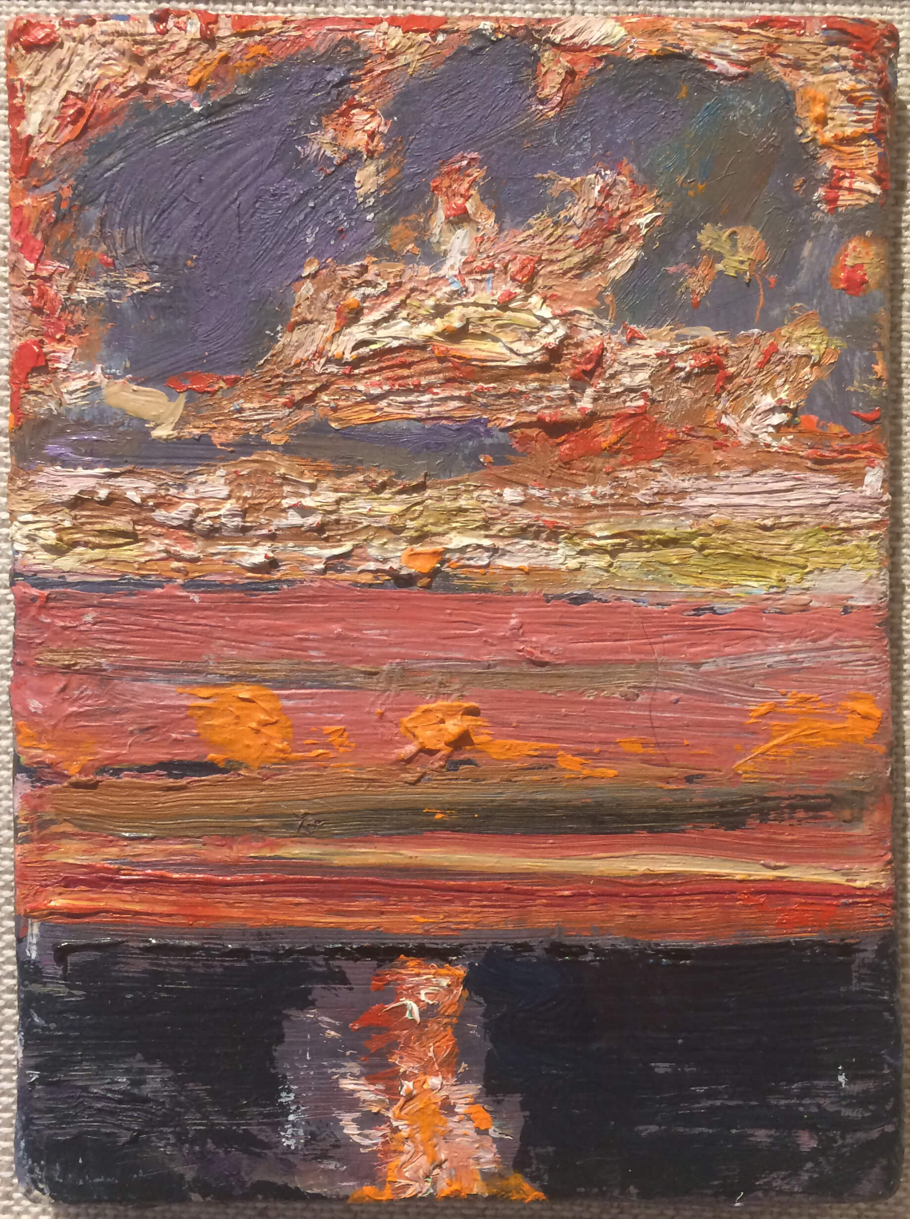 Bernard Chaet, Full Dawn, 2002, oil on canvas mounted on panel (courtesy of Alpha Gallery)