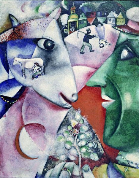 Marc Chagall, I and the Village, 1911  (Chagall ® /  © ADAGP, Paris and DACS, Lo