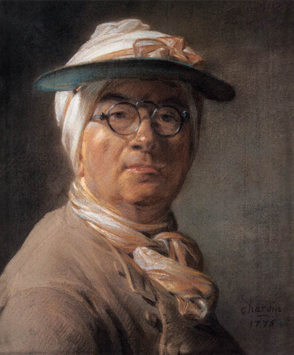 Jean-Siméon Chardin, Self Portrait or Portrait of Chardin Wearing an Eyeshade, 1