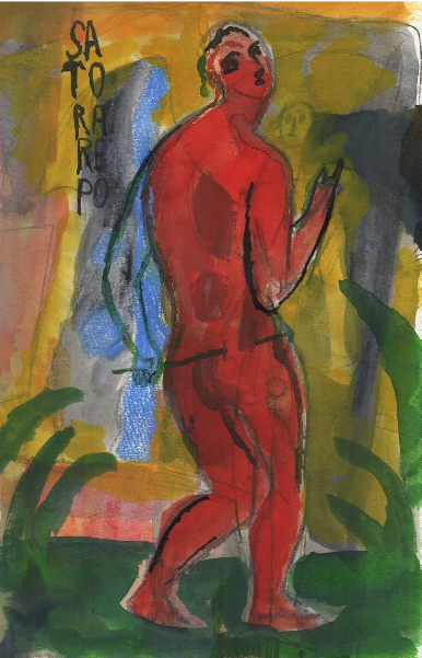 Sandro Chia, Arepo, 2014, 10.75 x 6.75 inches (courtesy of Steven Harvey Fine Ar