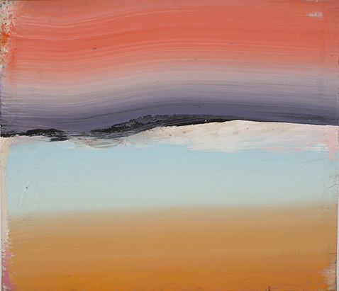 Ed Clark, Untitled, 2002, acrylic on canvas, 42 7/8 x 49 3/4 inches (courtesy of Tilton Gallery)