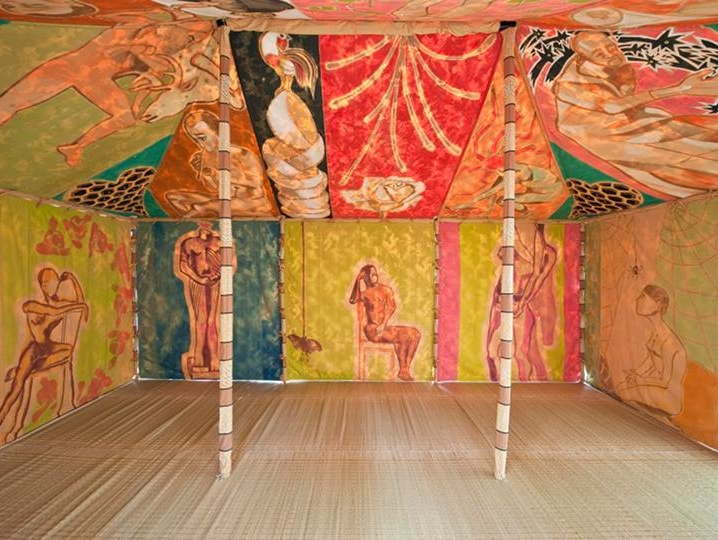Installation view: Francesco Clemente, Standing with Truth (photo: Christian Gla