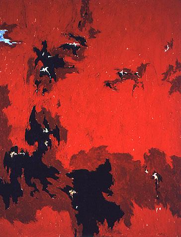 Clyfford Still, 1949 No. 1 (PH-385), 1949, oil on canvas, 105 x 81 inches, © Est