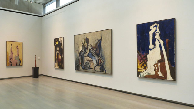 Installation view: Memory, Myth & Magic at the Clyfford Still Museum, Denver, Co